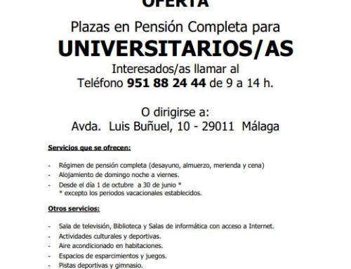 Solicitud plazas 2019/20