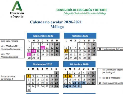 Ya tenemos nuevo calendario escolar para Málaga